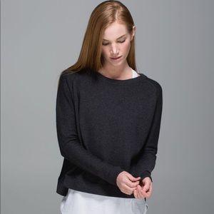 Lululemon Bhakti Life Sweater Heathered Black 4